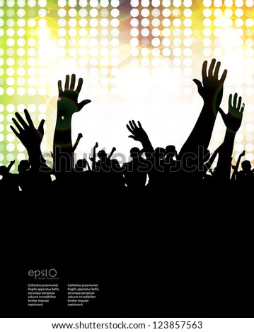 Concert Crowd Stock Vector Illustration 123857563 ...