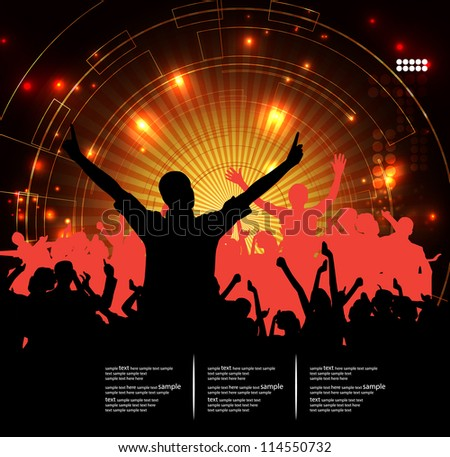 Concert. Vector illustration