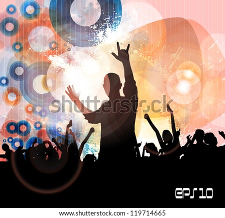 Concert. Vector illustration - stock vector