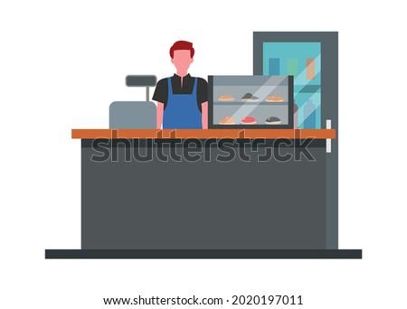 Concession stand. Simple flat illustration. Сток-фото ©
