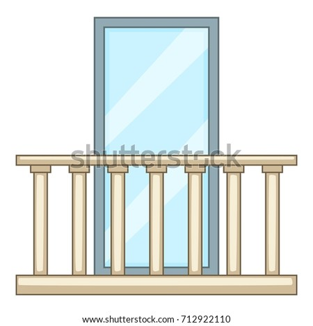 concrete balcony icon cartoon
