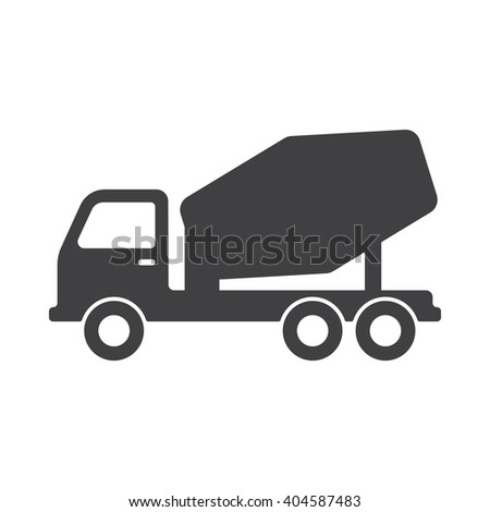 concrete mixer icon  concrete