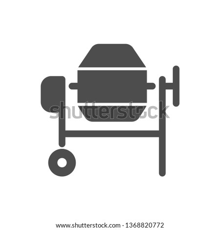 concrete mixer vector icon isolated on white background. concrete mixer flat icon for web, mobile and user interface design