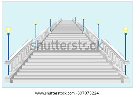 concrete stairs with a strong