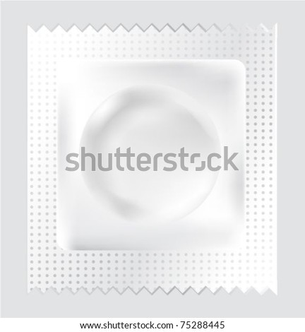Condom isolated on white background. Vector illustration