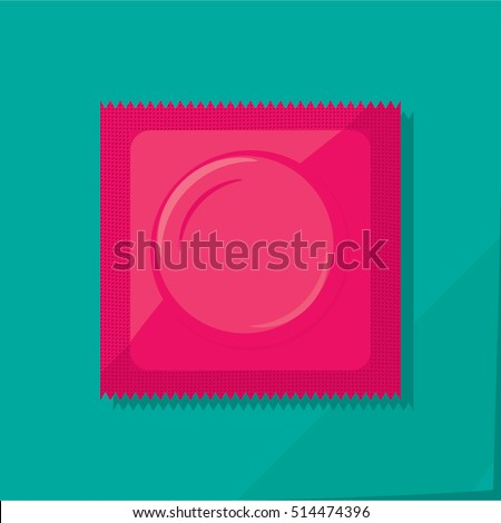 condom plastic package with
