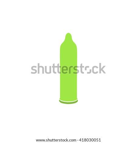 condom simple flat vector icon