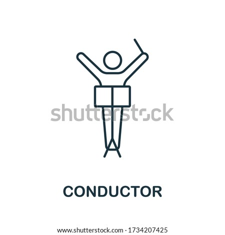 Conductor icon from music collection. Simple line Conductor icon for templates, web design and infographics Foto stock ©