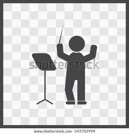 Conductor vector icon. Isolated illustration. Business picture.