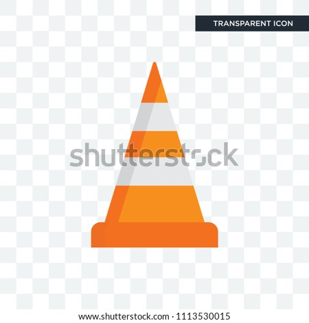 Cone vector icon isolated on transparent background, Cone logo concept
