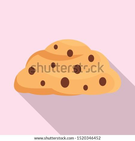Confectionery cream icon. Flat illustration of confectionery cream vector icon for web design