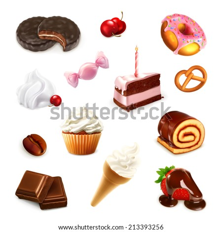 confectionery  vector set 2