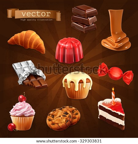 confectionery  vector set 3
