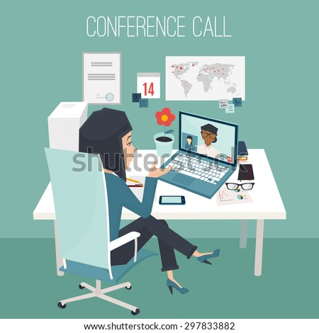conference call at office two