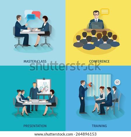 conference design concept set