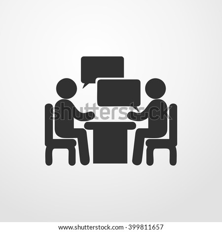 Conference icon. People sitting at a table.