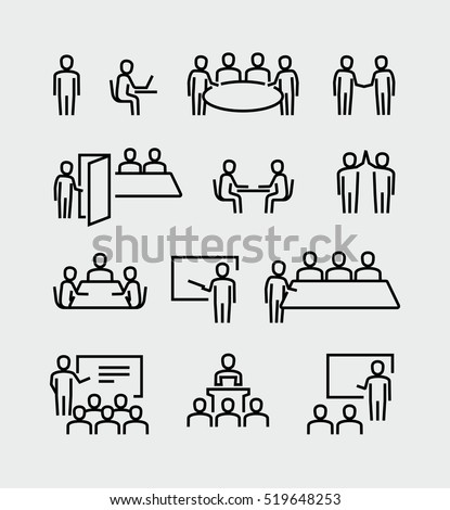 conference meeting vector icons