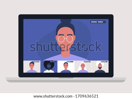 Conference video call, remote project management, quarantine, working from home