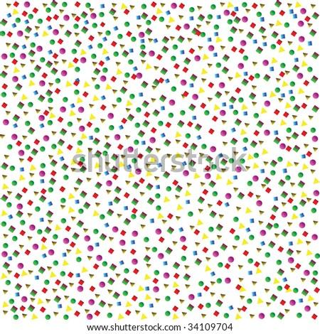confetti - stock vector
