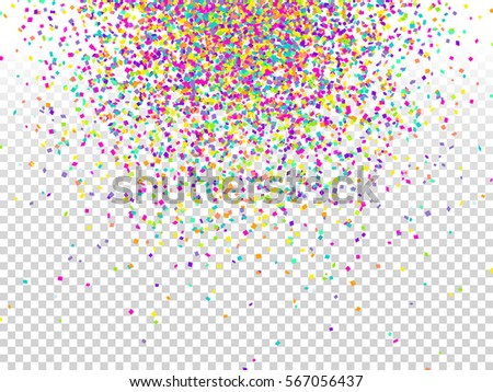 Confetti background. Holiday vector. Celebration, festival, winning or carnival concept. Colorful confetti pieces illustration for web design, creative projects or printed products.