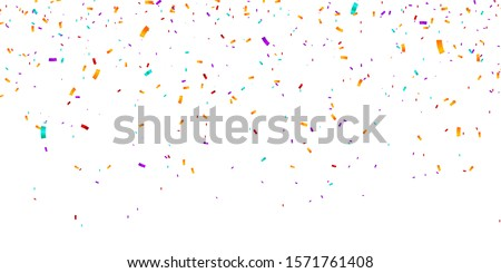 Confetti Background. Vector illustration confetti background. Party and birthday confetti vector background