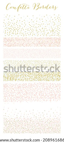 Confetti Borders Collection in Vector