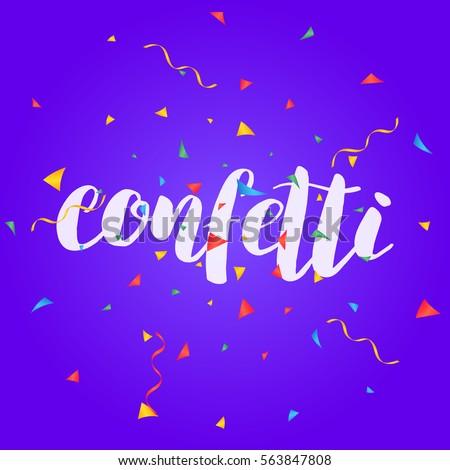confetti colorful confetti