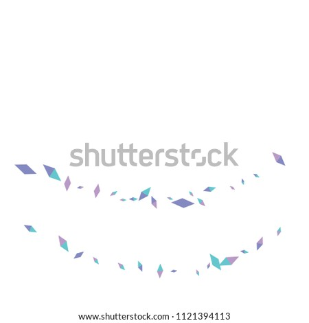 Confetti of two-colored rhombs isolated on white background.Falling confetti from minimalistic geometric figures. Abstract triangles and rombs for label, card, poster, cover, leaflet, textile design.