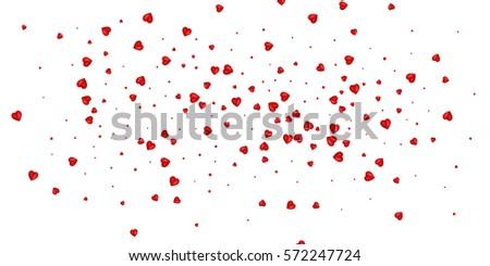 confetti of valentines petals