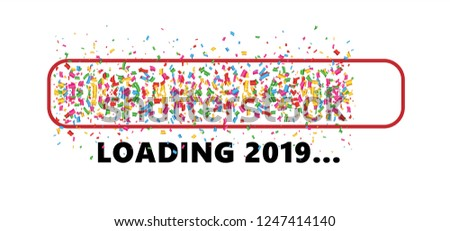 confetti party loading bar 2019