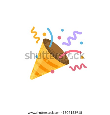 Confetti Party Popper icon vector, logo illustration isolated on white