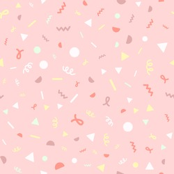 Confetti. Seamless cartoon pattern