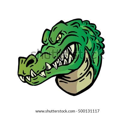 Confidence Leadership Animal Head Logo - Crocodile Character