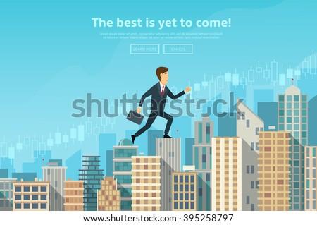 confident businessman walking