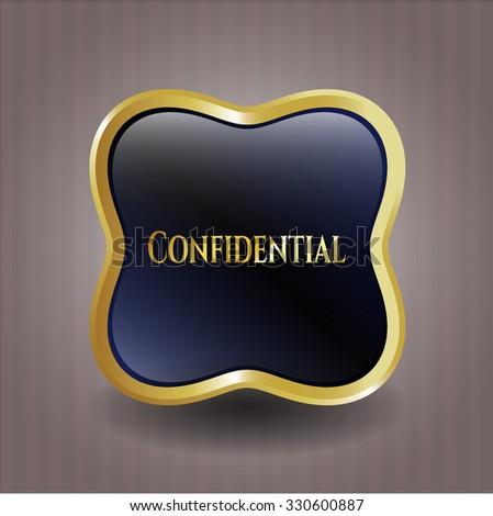 Confidential gold emblem
