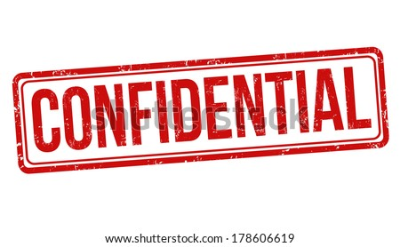 Confidential grunge rubber stamp on white, vector illustration