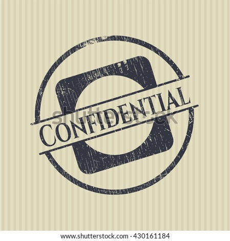 Confidential grunge seal