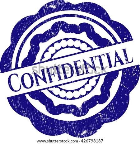 Confidential rubber grunge stamp