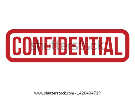 Confidential Rubber Stamp. Red Confidential Stamp Seal – Vector Сток-фото ©