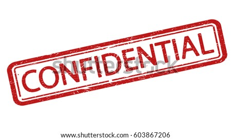 Confidential stamp. Dirty texture. Isolated.