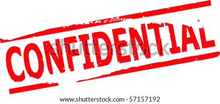 confidential stamp vector illustration