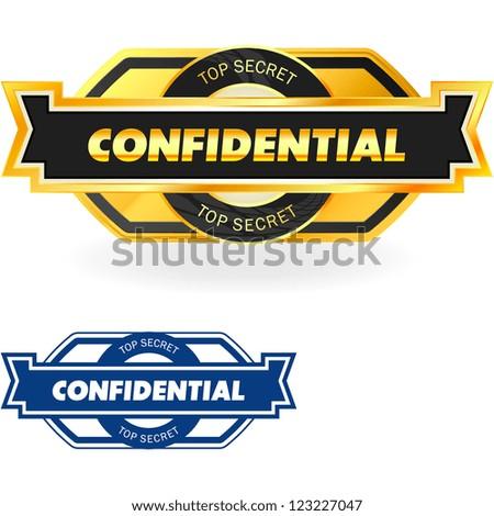 Confidential. Vector illustration