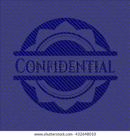 Confidential with jean texture