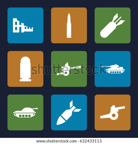conflict icons set set of 9