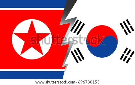 confrontation of north and