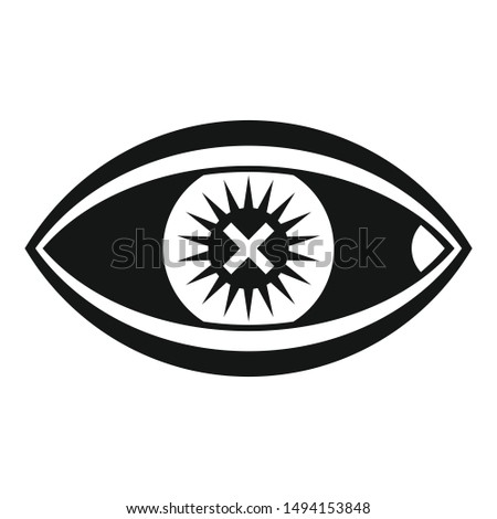 confuse human eye icon simple
