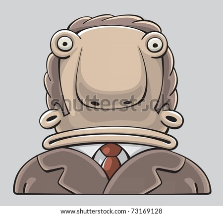 Confused Businessman with wide Mouth and inquiring Look