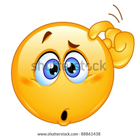 stock vector : Confused emoticon