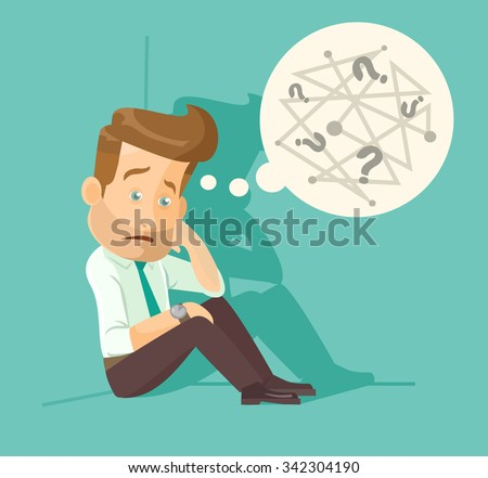 confused employee vector flat