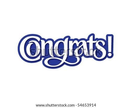 Congrats! Vector Lettering
